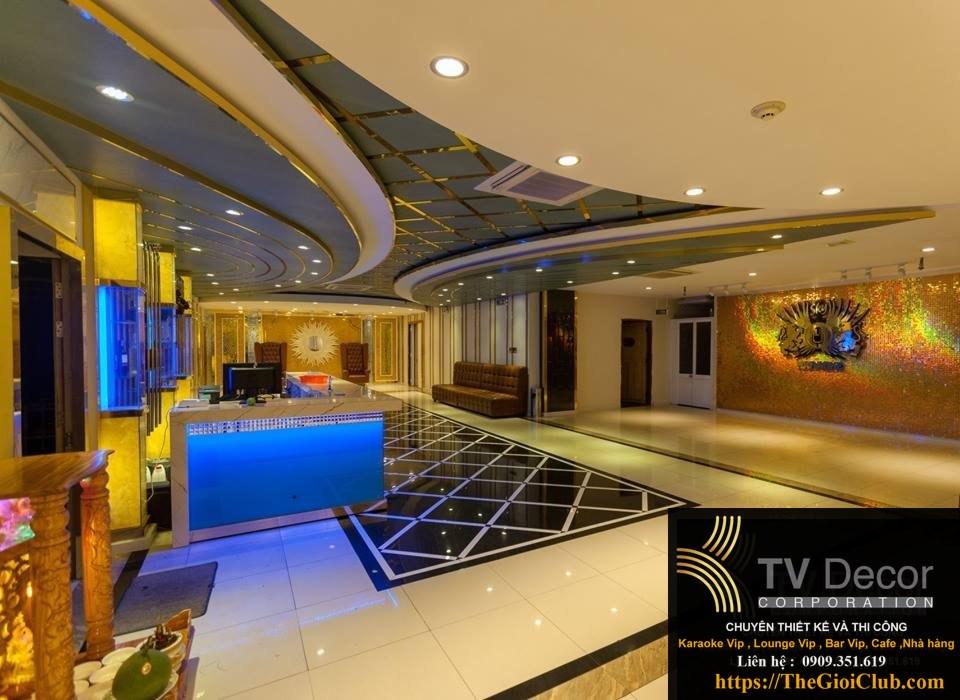 Mẫu thiết kế thi công karaoke KTV90 - Sảnh 1
