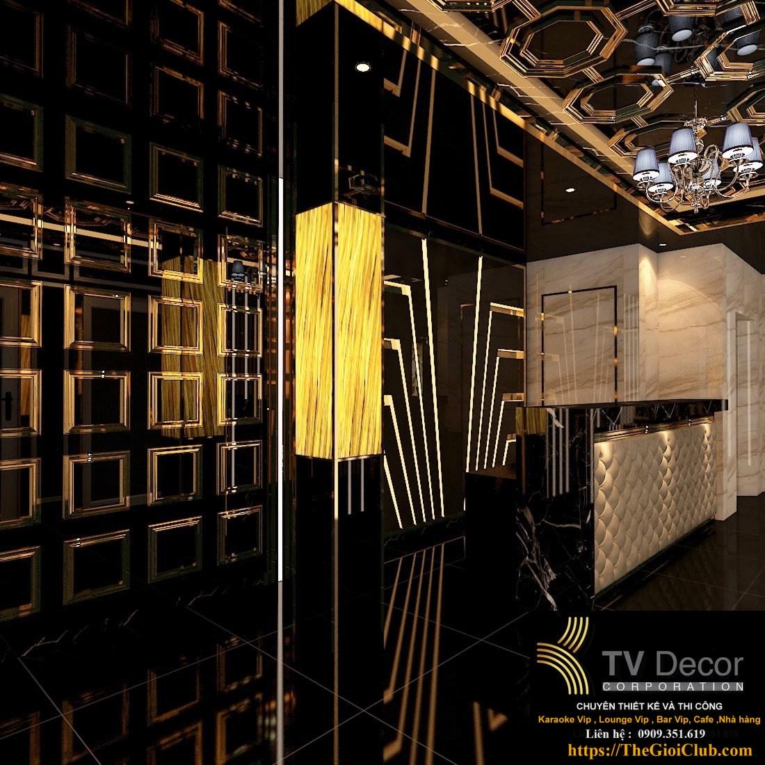 Mẫu thiết kế hành lang karaoke phong cách Luxury 777