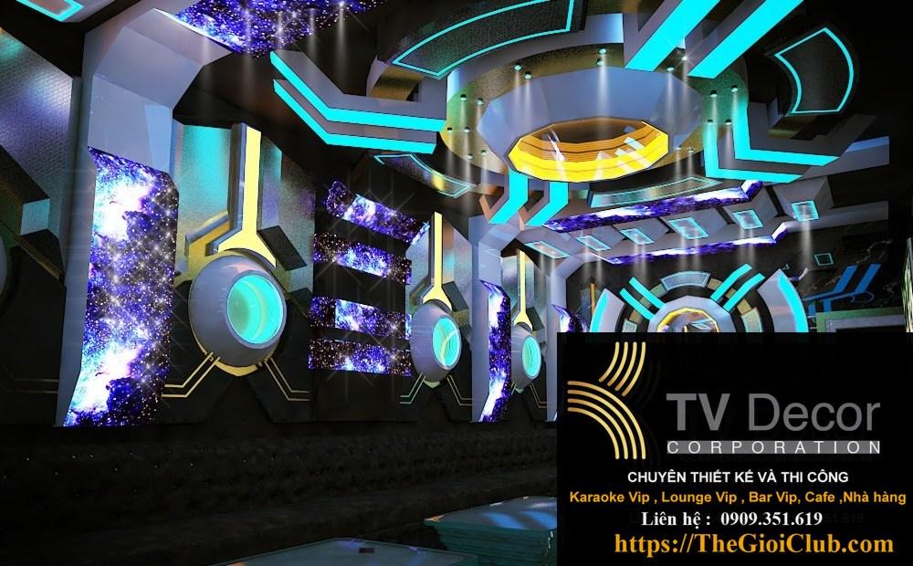 Mẫu thiết kế phòng karaoke KTV55,3,5 đến 6 triệu/m2