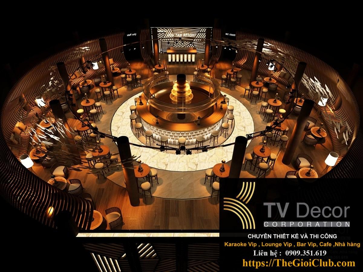 Thiết kế thi công Lounge Hòn Tầm Nha Trang - Ảnh thiết kế