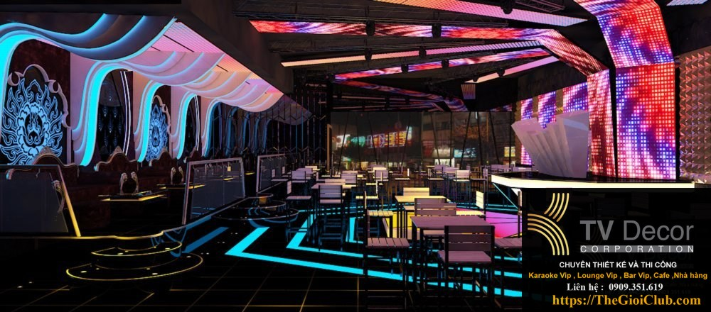 Thiết kế nhà hàng Beer Ngon – Beer Club , thiết kế quán Bar, vũ trường tại KTVDECOR 2